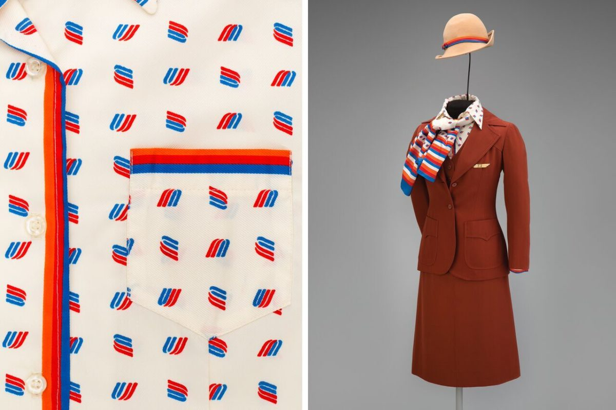 172f5ff6a2d United Airlines female flight attendant uniform by Stan Herman