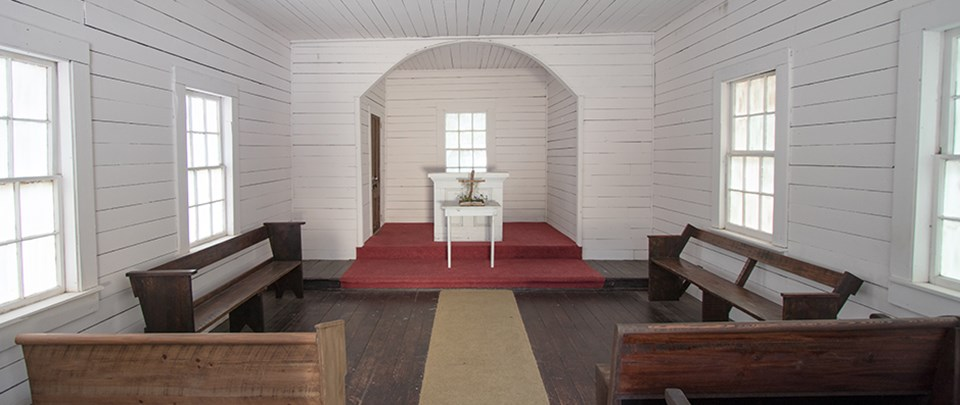 small church interior