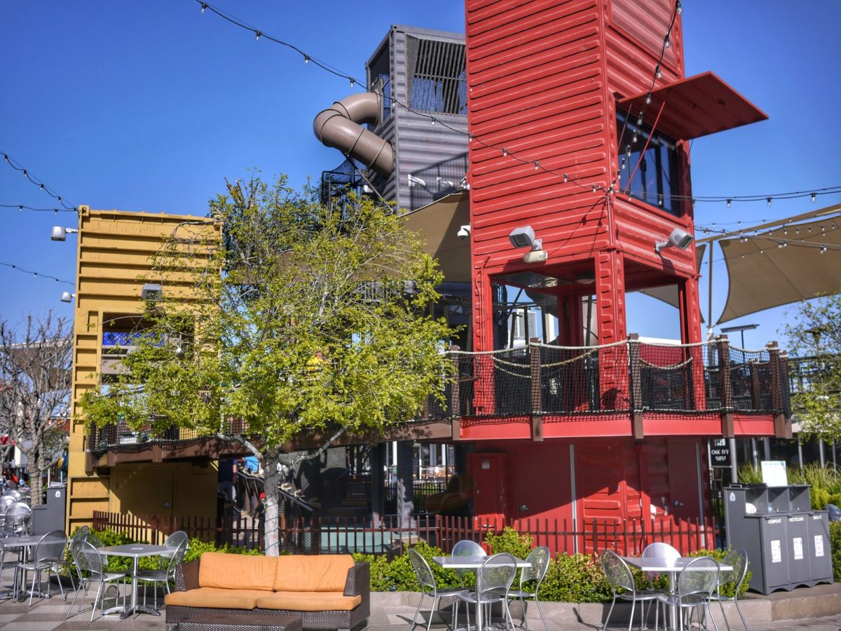 inside Container Park