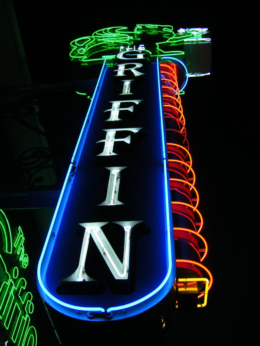 neon sign that says Griffin