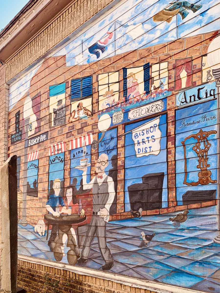 mural of the bishop arts district.