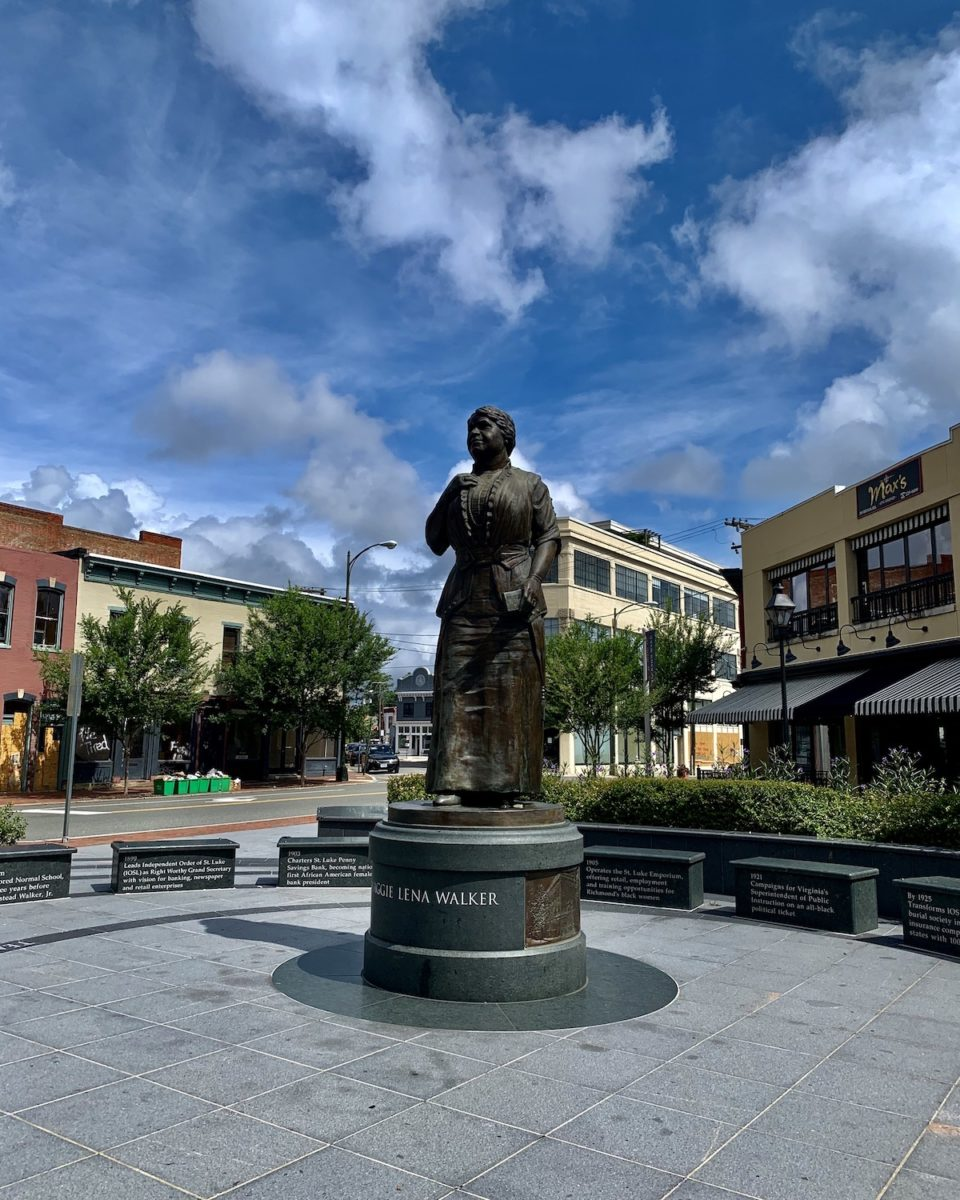 statue of maggie walker in downtown richmond