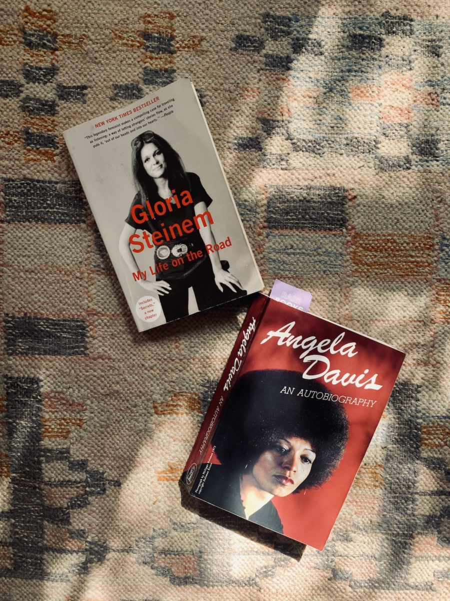 two books on a rug