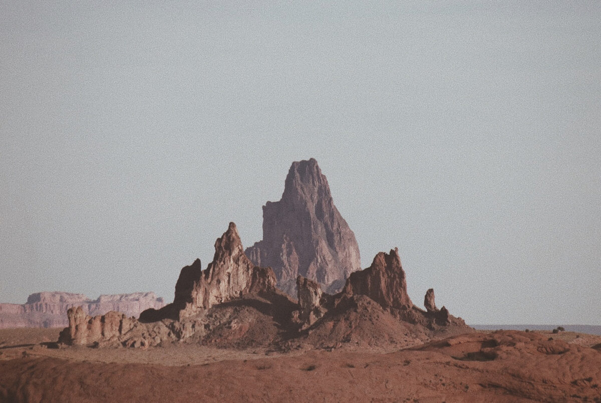 a mountain in the desert