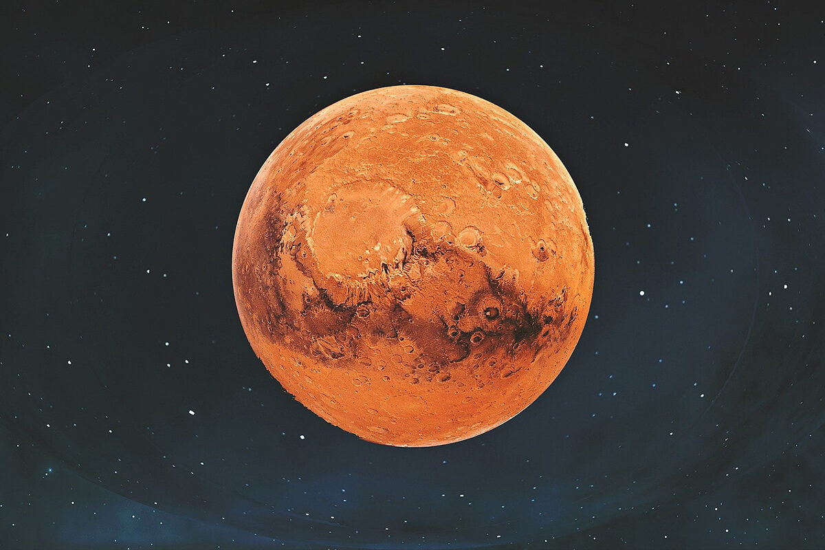 a drawing of mars