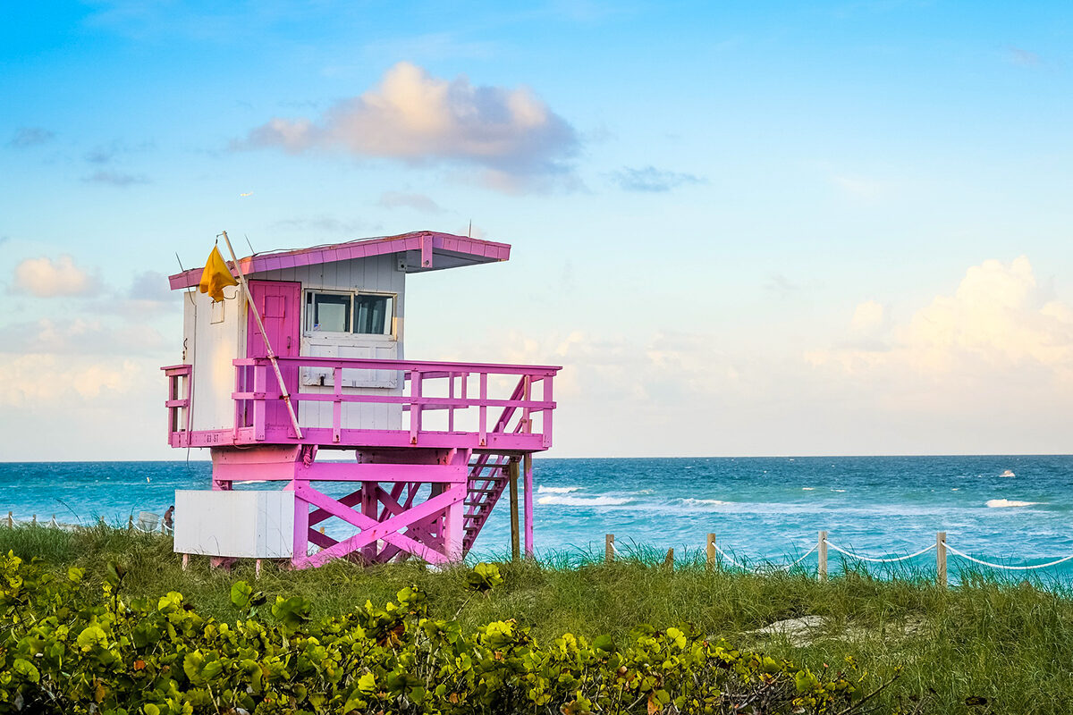 a beach shack in miami