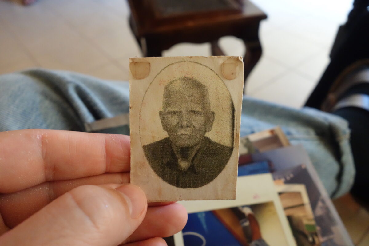 an aged picture of an elderly man